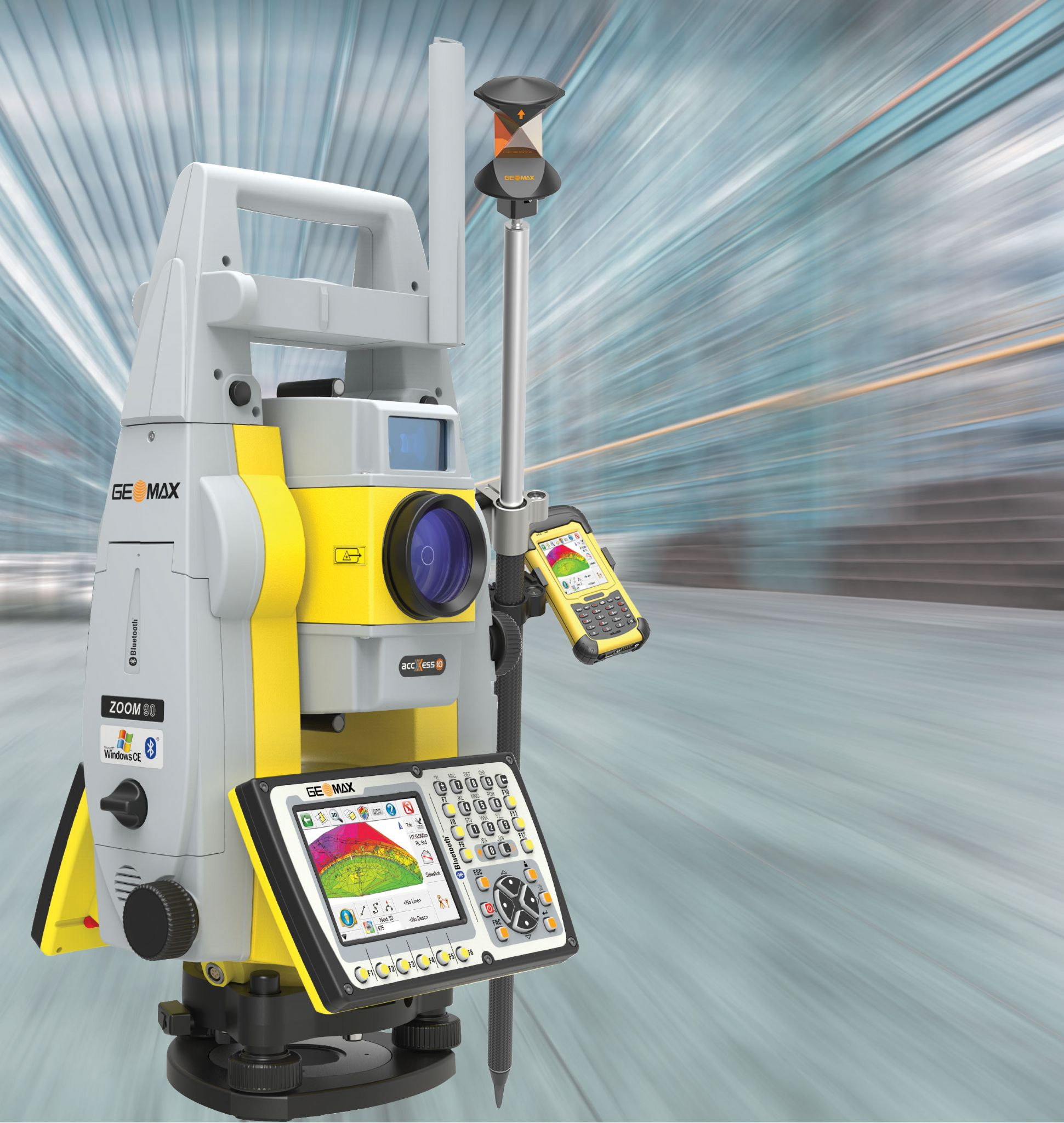 geomax zoom 90 r1000 a10 5 robotik total station paket android panasonic fz b2 geo science sa. Black Bedroom Furniture Sets. Home Design Ideas